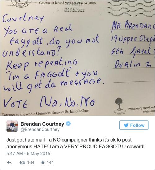 Tweet by @Brendan Courtney