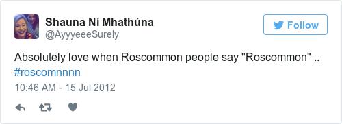 Tweet by @Shauna Ní Mhathúna