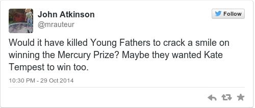 Tweet by @John Atkinson