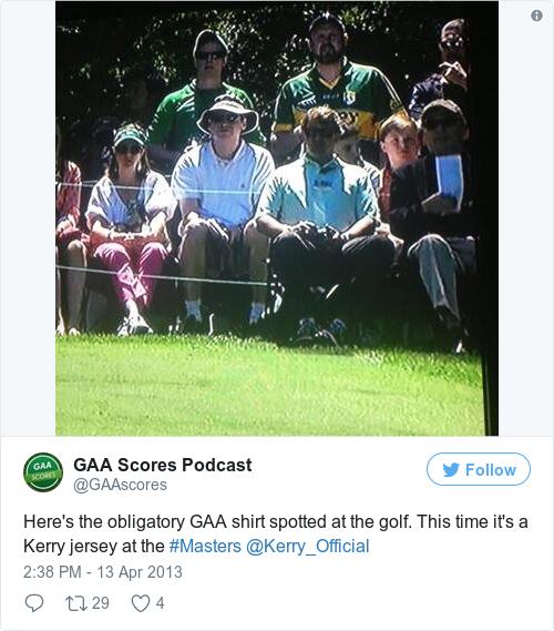 Tweet by @GAA Scores Podcast