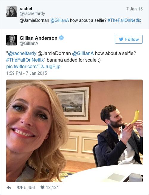 Tweet by @Gillian Anderson