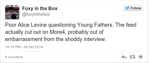 Tweet by @Foxy in the Box