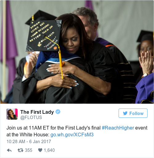 Tweet by @The First Lady
