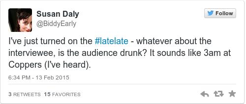 Tweet by @Susan Daly