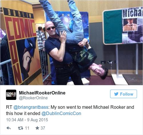 Michael Rooker dublin comic con