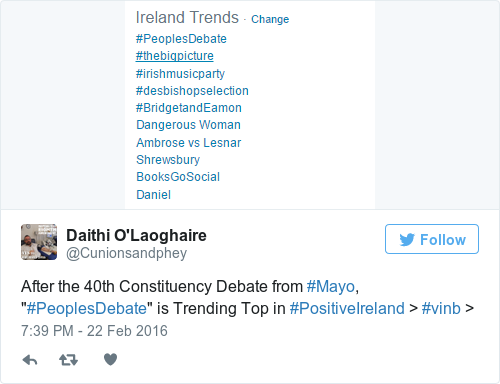 Tweet by @Daithi O'Laoghaire