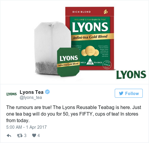 Tweet by @Lyons Tea