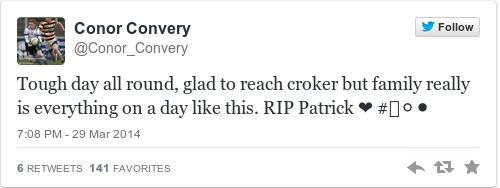 Tweet by @Conor Convery