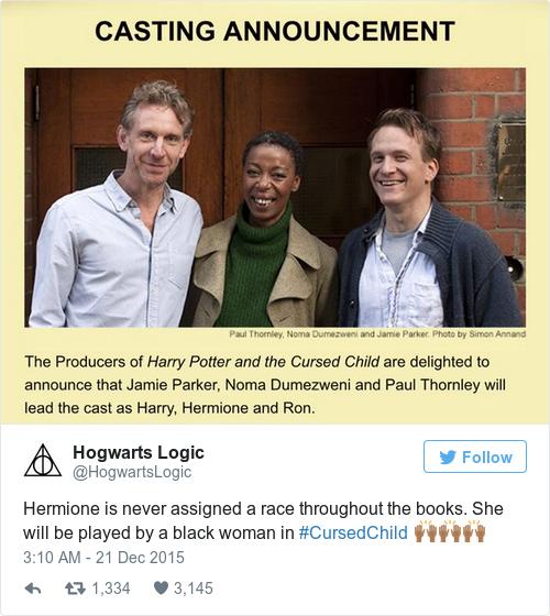 Tweet by @Hogwarts Logic