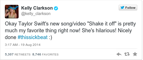 Tweet by @Kelly Clarkson