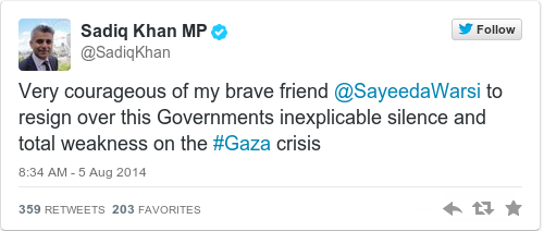Tweet by @Sadiq Khan MP