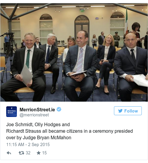 Tweet by @MerrionStreet.ie