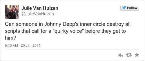 Tweet by @Julie Van Huizen