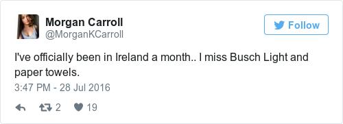 Tweet by @Morgan Carroll