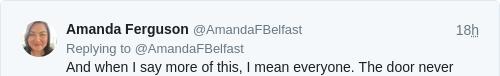 Tweet by @Amanda Ferguson