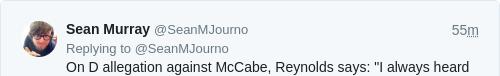 Tweet by @Sean Murray
