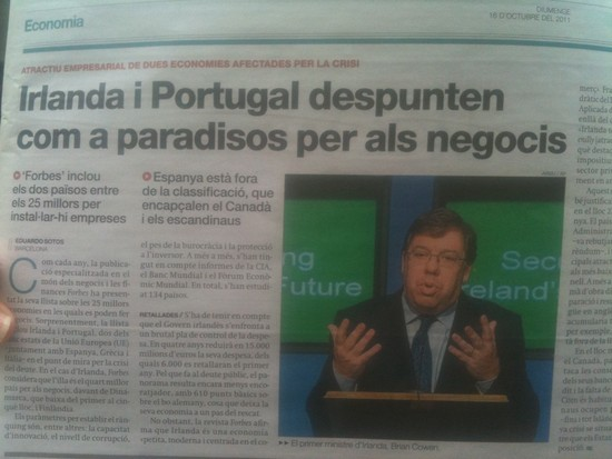 In today 39s publication Spanish daily El Peri dico published this photo of