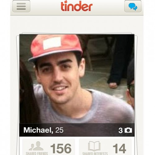look who I just found on @tinderapp ... hey bro