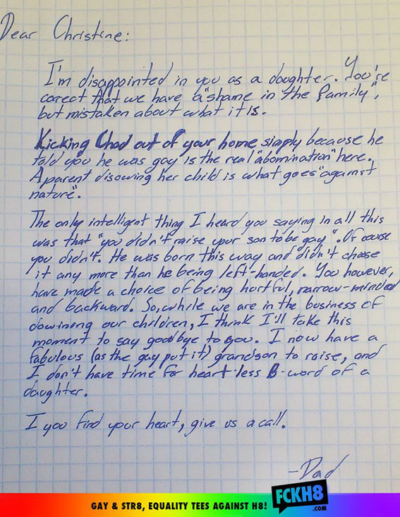 Grandfather Writes Incredible Letter To Daughter After She Disowns