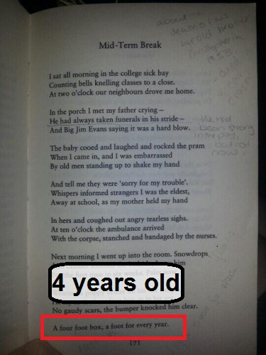a literary analysis and a comparison of follower and mid term break by seamus heaney His literary papers are held by the  from mid-term break  two of his poems entitled 'storm on the island' and 'follower' feature on the new gcse english .