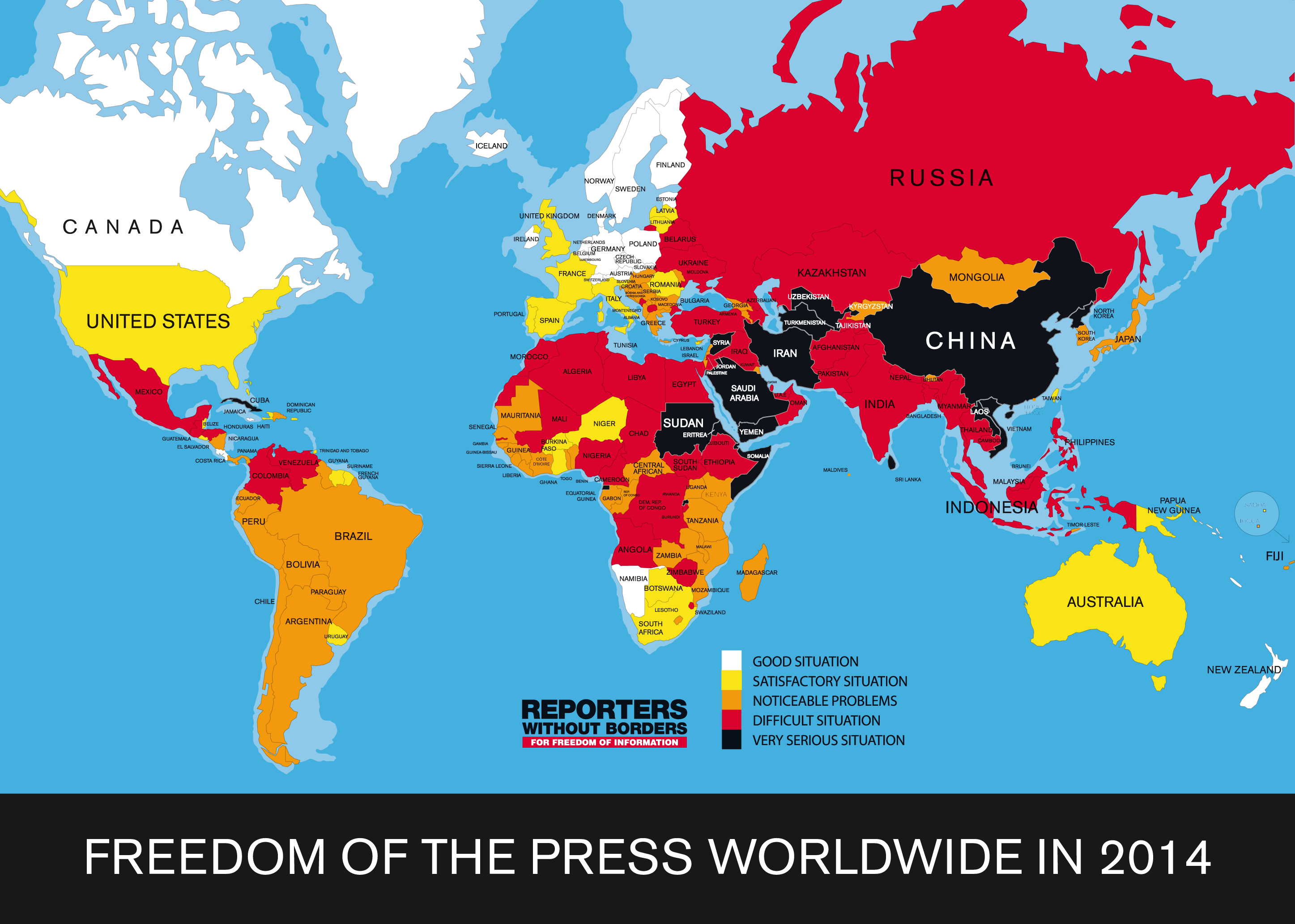 Guess where ireland ranks in the world in terms of press freedom click here if you have trouble viewing the map gumiabroncs Images