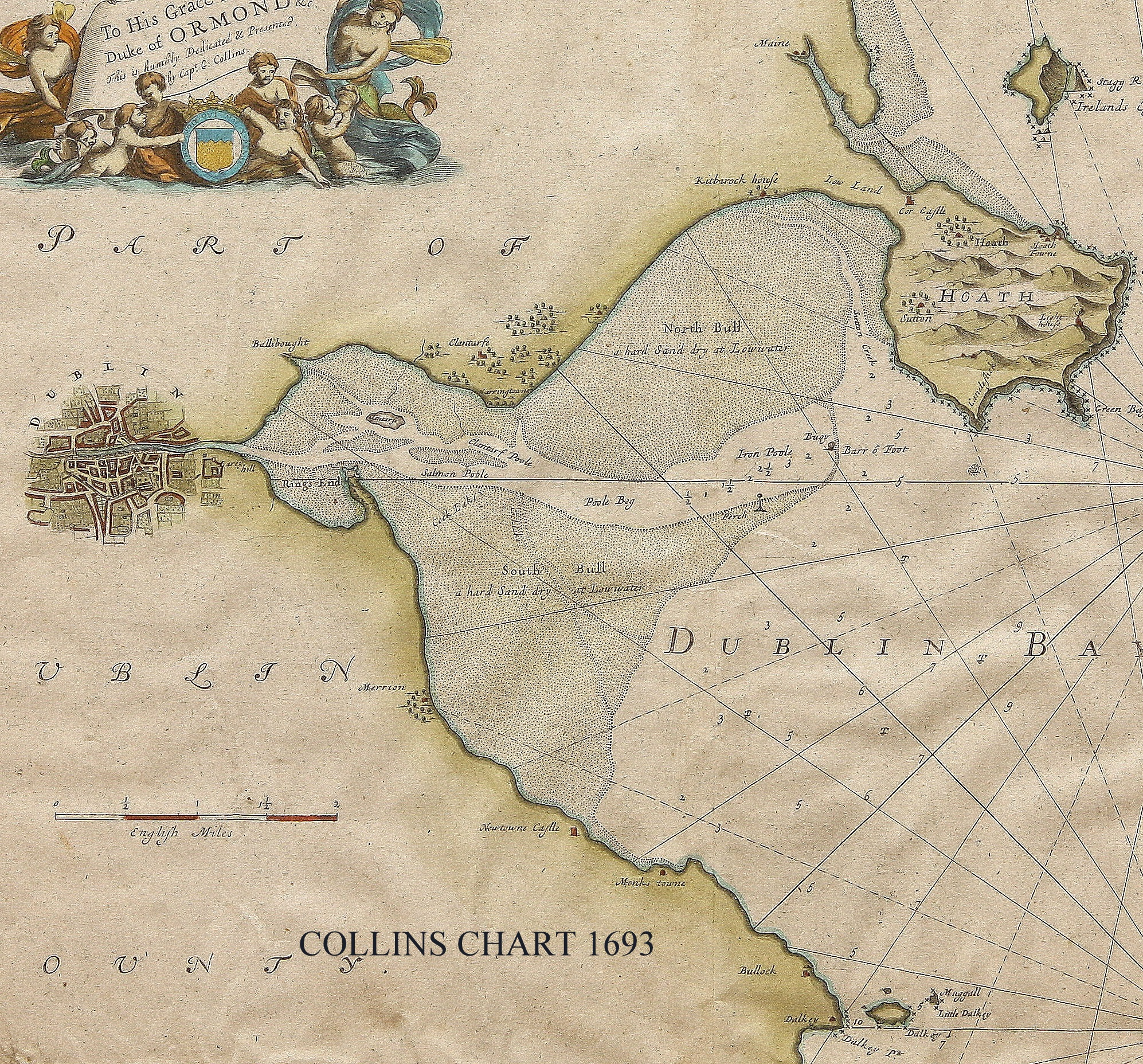 This Is What Dublin Bay Used To Look Like TheJournalie - Old maps of dublin