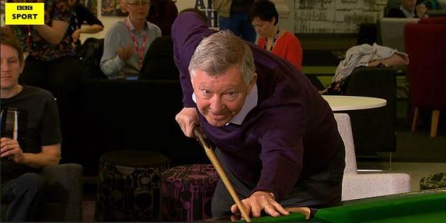 Alex Ferguson snooker