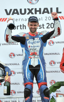 William Dunlop celebrates winning