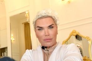 Rodrigo Alves visited the salon ''Petra''. Moscow, Russia - 16 Mar 2018