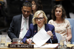 UN-SECURITY COUNCIL-MYANMAR-ROHINGYA CRISIS-CATE BLANCHETT