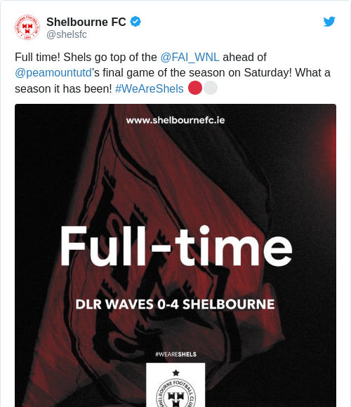 Tweet by @Shelbourne FC