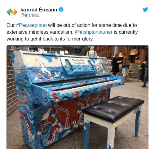 Tweet by @Iarnród Éireann