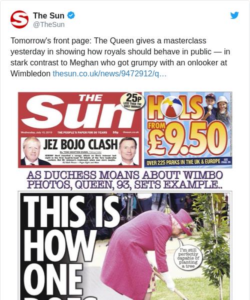 Tweet by @The Sun