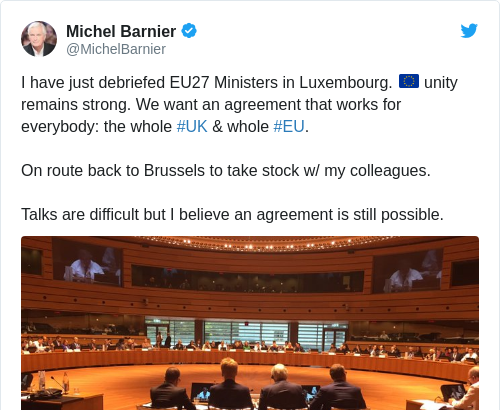 Tweet by @Michel Barnier