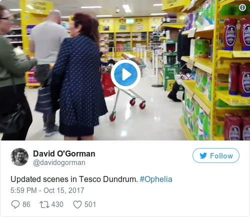 Tweet by @David O'Gorman