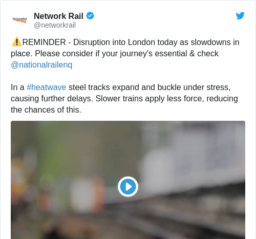 The UK has had to slow down its trains to prevent tracks