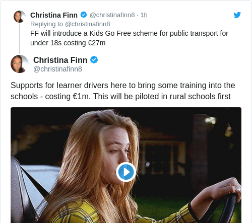 Tweet by @Christina Finn
