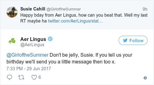 Tweet by @Aer Lingus