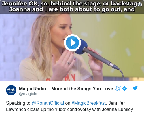 Tweet by @Magic Radio – More of the Songs You Love 🎶