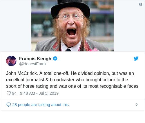 Tweet by @Francis Keogh