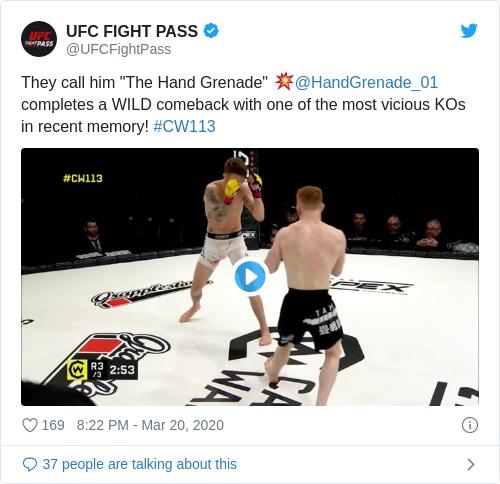 Tweet by @UFC FIGHT PASS