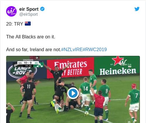 Tweet by @eir Sport