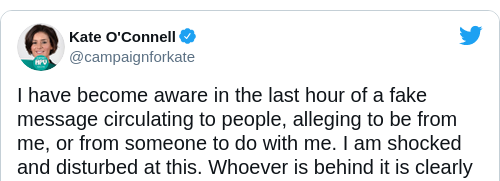 Tweet by @Kate O'Connell