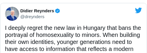 Tweet by @Didier Reynders