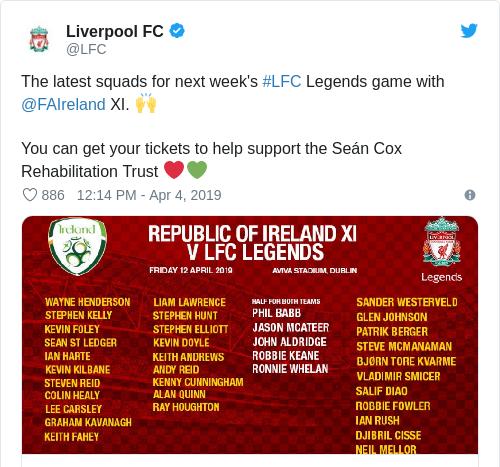 Tweet by @Liverpool FC