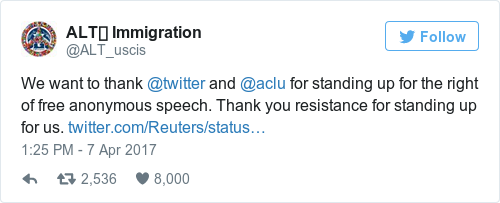 Tweet by @ALT🛂 Immigration