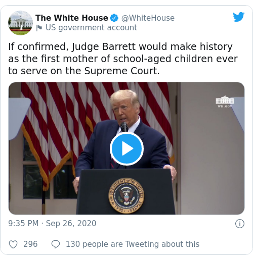 Tweet by @The White House