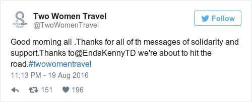 Tweet by @Two Women Travel