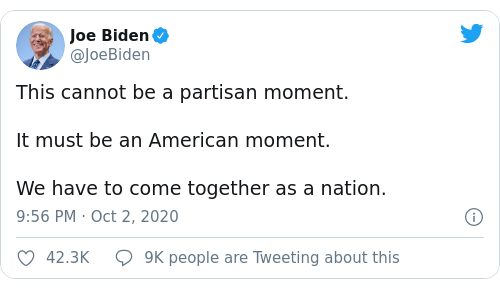 Tweet by @Joe Biden