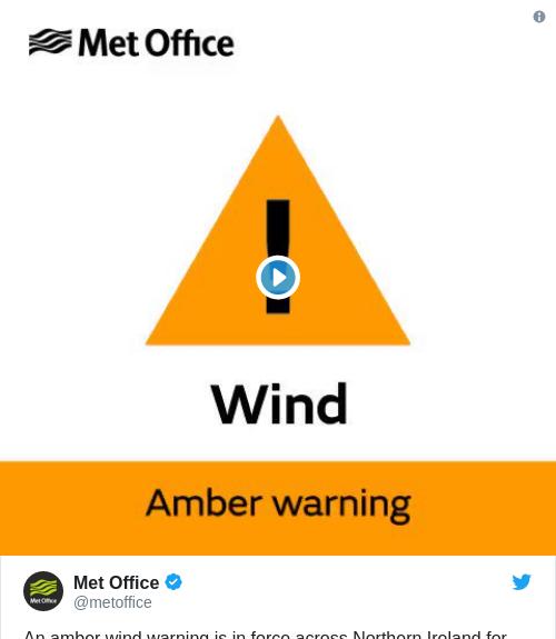 Tweet by @Met Office